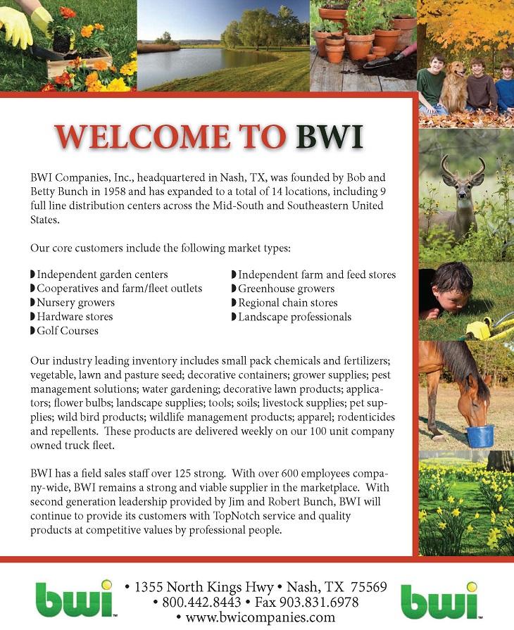 Bwi Companies Professional Grower Catalog